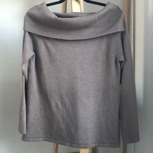 Cyrus Off the Shoulder Cowl Neck Sweater